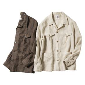 「Albini」 リネン サファリシャツジャケット 写真