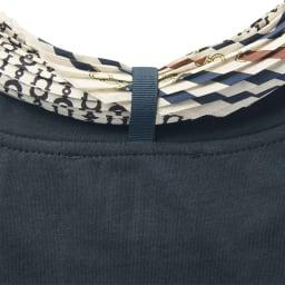 KORA KANE/コーラカーネ スカーフ付きTシャツ(イタリア製) Back Style