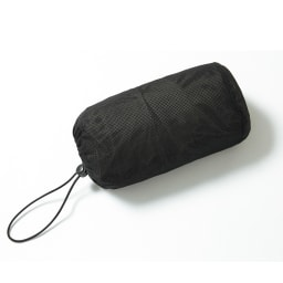 撥水タフタ ジャージーポケッタブルコート 便利な収納袋付き