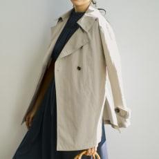 シャンブレー デザインハーフコート