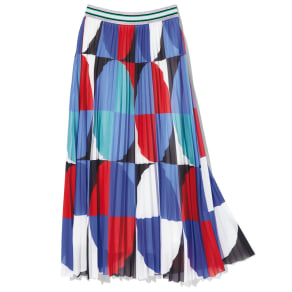 ANONYME/アノニム 幾何学柄プリーツスカート 写真