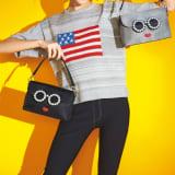 アメリカンフラッグ柄 ニットプルオーバー 写真