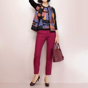 (股下丈65cm)トルコ素材 ドビー織り カラーパンツ 写真