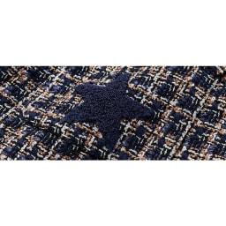 星柄さがら刺繍ツイードジャケット