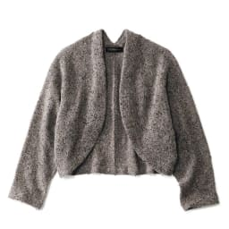 イタリア糸 モヘヤ混 スパンコール使い ニットボレロ スパンコールは編み地表面だけでなく裏面でも輝きを放っています。