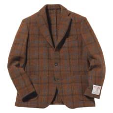 「Harris Tweed」 ウールジャケット(サイズL)