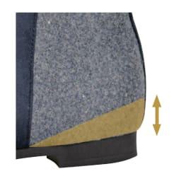 yuki's  comfort ヒールアップショートブーツ 2cmのインヒールで脚長効果