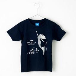 リトルマーメイド/半袖Tシャツ(キッズ)シルバー|ディズニー ミュージカル Front