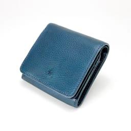 cotone/コットーネ 二つ折り財布 (イ)ダークブルー