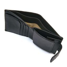 クロコダイル 二つ折り財布 INSIDE