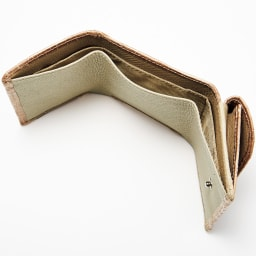クロコダイル コンパクト 三つ折り財布 INSIDE