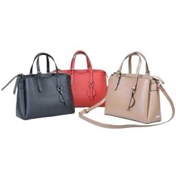 BARCOS/バルコス レザーバッグ&長財布セット [バッグ] 左から (ア)ブラック、(ウ)レッド、(イ)トープ