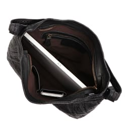 Bruno Rossi/ブルーノ ロッシ メッシュデザイン バッグ(イタリア製) A4横サイズ収納可/138mm×67mmスマートフォン 内ポケット収納可