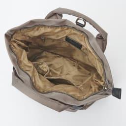 BARCOS/バルコス ナイロン×レザー 3WAY バッグ INSIDE マチが広く、ポケットも豊富
