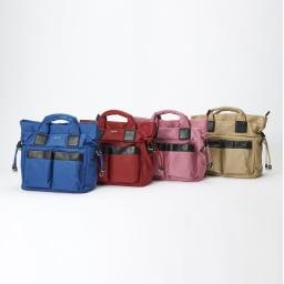 BARCOS/バルコス ナイロン×レザー 3WAY バッグ 豊富なカラーバリエーションをご用意。正面の大きなポケットはおしゃれな上に実用的。