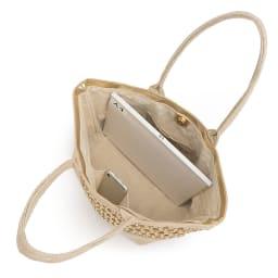 Cachellie/カシェリエ メッシュコンビトートバッグ A4横サイズ収納可/138mm×67mmスマートフォン内ポケット収納可