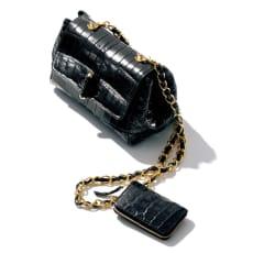 ミニ財布付き マットクロコダイル 2WAY チェーンバッグ
