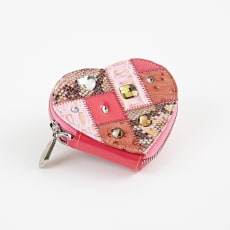MICHELANGELO/ミケランジェロ ハート形小銭入れ ピンク