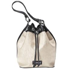 CAPOVERSO/カポベルソ 箔加工巾着ショルダーバッグ(イタリア製)