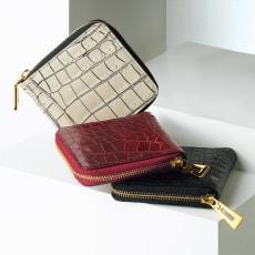 クロコダイル コンパクト 三方ファスナー財布