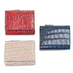 Arukan/アルカン レッテ 三つ折財布 左上から時計回りに(イ)レンガ (ウ)ネイビー (ア)オーク