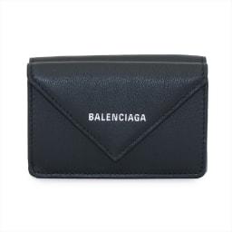 BALENCIAGA/バレンシアガ 三つ折り財布 391446 DLQ0N (ア)ブラック