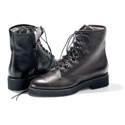 Luca Grossi/ルカグロッシ インナームートン ブーツ(イタリア製) ※今回のお取り扱いは左のブラックになります。