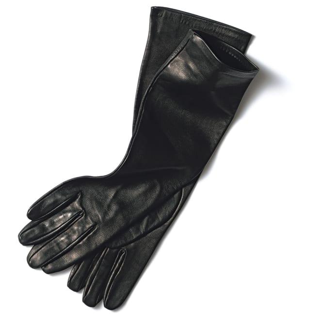 Gloves/グローブス ロンググローブ(イタリア製) ブラック