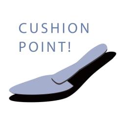 サイドゴア ショートブーツ 【紫の部分がクッションポイント!】 前半分に3mm厚低反撥クッションを敷き、土踏まずから踵にかけて3mm厚を重ねて、疲れにくい足あたりを実現。