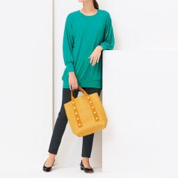 DRES/ドレス パール調飾り付き トート コーディネート例