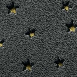 星型パンチング 3ウェイ バッグ 生地アップ