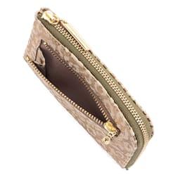 L字ファスナー コンパクト財布 あると便利な背面ポケット付き。