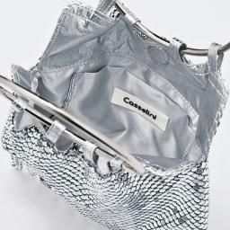 casselini/キャセリーニ メタルメッシュ フリンジバッグ INSIDE