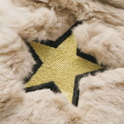 TIPI CURREN/ティピカレン 星刺繍 レッキスファー マフラー 生地アップ