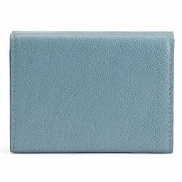 三つ折り コンパクト レザー財布 (エ)ライトブルー BACK