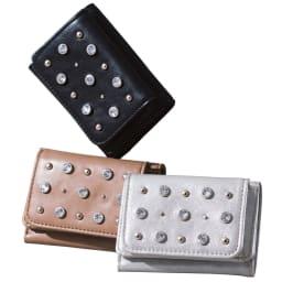 CONTROL FREAK/コントロールフリーク きらきら ミニ財布 上から時計まわりに (イ)ブラック (ウ)シルバー (ア)ベージュ