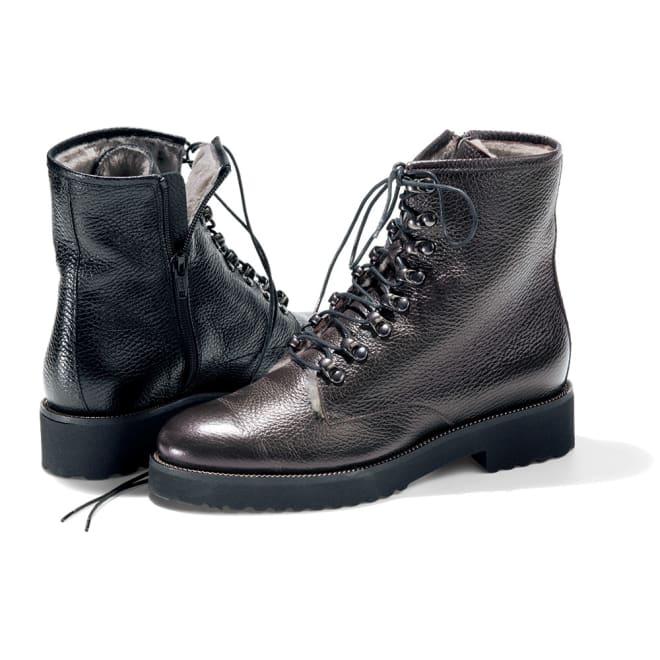 Luca Grossi/ルカグロッシ インナームートン ブーツ(イタリア製) 左から (イ)ブラック (ア)ダークブラウン