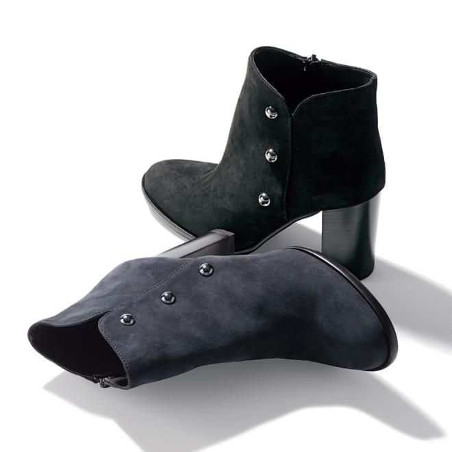 STEFANO GAMBA/ステファノ ガンバ メタルパーツ ショートブーツ(イタリア製) 上から (ア)ブラック (イ)グレー