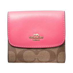 COACH OUTLET/コーチアウトレット 折財布 F87589 (ア)カーキ/ピンク