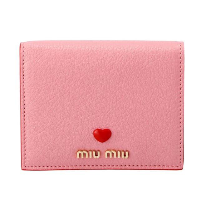 MIU MIU/ミュウミュウ 折財布 5MV2042BC (ア)ローズ