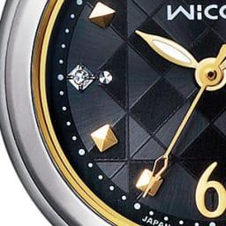 CITIZEN/シチズン WICCA(ウィッカ) ソーラーテック電波時計 KL0-910-51 ワンポイントのダイヤモンドとスクエアのインデックス