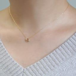 VA VENDOME AOYAMA/VAヴァンドーム青山  K10 ダイヤモンド ネックレス 着用例