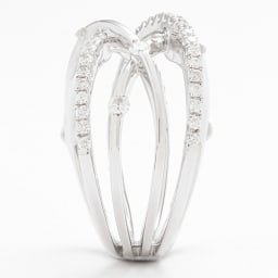K18WG 0.75ctダイヤ デザインリング SIDE