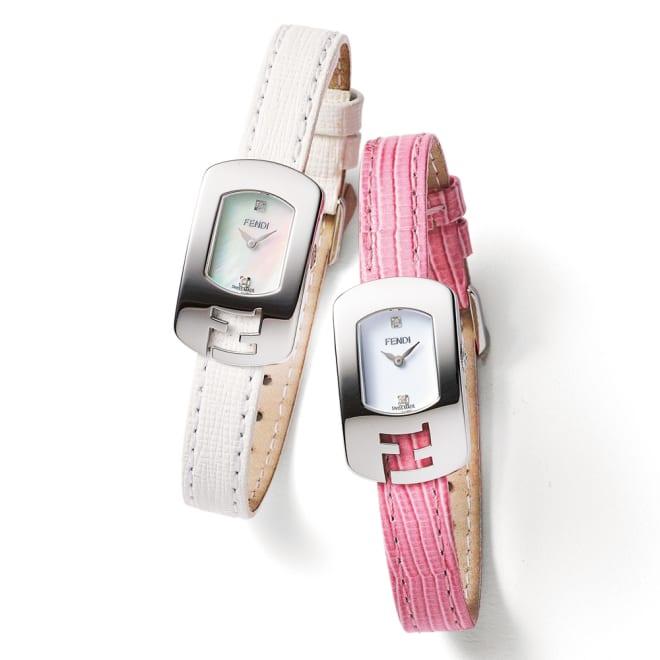 FENDI/フェンディ カメレオン カラーベルト ウォッチ 左から(ア)ホワイト (イ)ピンク