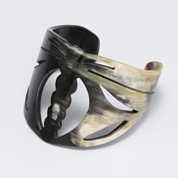 水牛 アール・ヌーボー トンボ バングル (イ)ブラック系