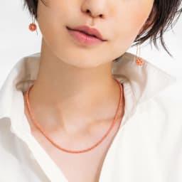 YUKIKO OKURA/ユキコ・オオクラ K10 ガーネ珊瑚 ピアス コーディネート例