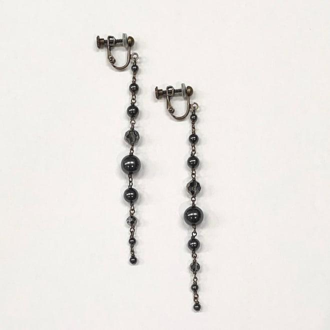 ATELIER METARINA/アトリエ ロング イヤリング・ピアス (ア)ブラックイヤリング