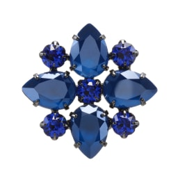VENDOME BOUTIQUE/ヴァンドームブティック ガラス デザイン ブローチ