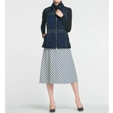 格子柄リバーシブルスカート(大きいサイズ)