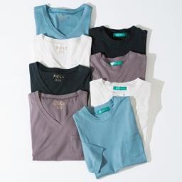 柔らかな肌触りのテンセルコットン クルーネックTシャツ 柔らかな肌触りのテンセルコットン シリーズ